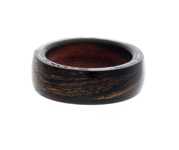 Mens Wedding Band, Unique Mens Ring, Wood Ring Rosewood Ring, Flat ...